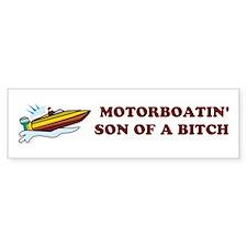 Motorboatin SOB Design 2 Bumper Bumper Sticker