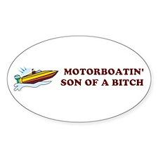 Motorboatin SOB Design 2 Oval Decal
