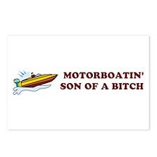 Motorboatin SOB Design 2 Postcards (Package of 8)
