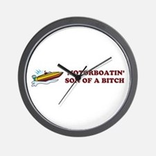 Motorboatin SOB Design 2 Wall Clock