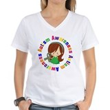 Autism Womens V-Neck T-shirts