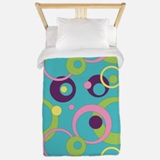 Funky Blue Circles Twin Duvet