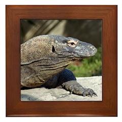 Komodo Dragon Framed Tile