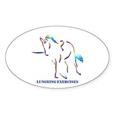 Lungeing Exercises Oval Decal