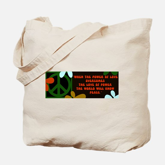jimi retro -when the power of love... Tote Bag