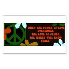 jimi retro -when the power of love... Bumper Stickers