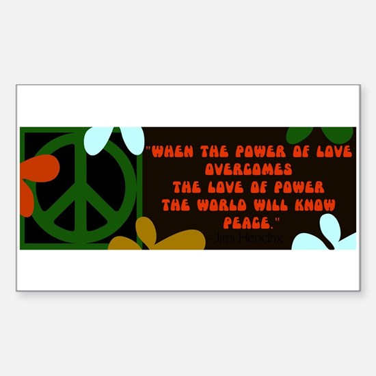 jimi retro -when the power of love... Decal
