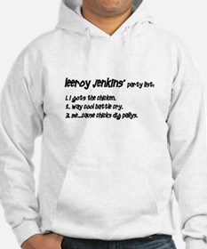 Leeroy's Party List Hoodie