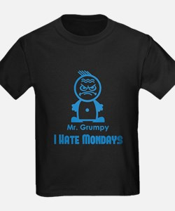 MR GRUMPY I hate Mondays moody angry face funny T-