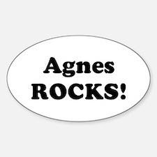 Agnes Rocks! Oval Decal