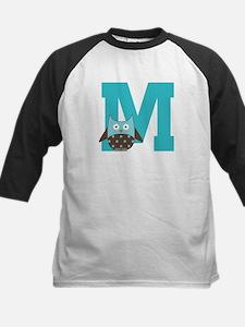 Letter M Monogram Initial Owl Tee