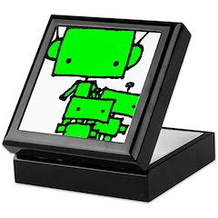 robofamily green Keepsake Box