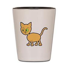 Odd Eyed Ginger Cat. Shot Glass