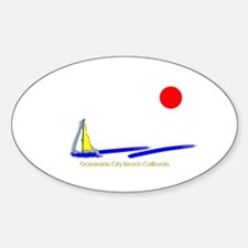 Oceanside City Oval Decal