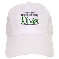 Scrapbooking Diva 2 Baseball Cap