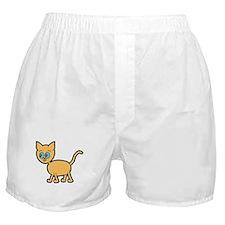 Blue Eyed Ginger Cat. Boxer Shorts