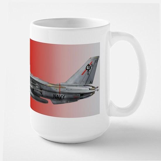 F-14 Tomcat VF-41 Black Aces Large Mug