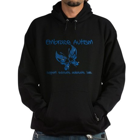 Embrace Autism Butterfly Hoodie (dark)