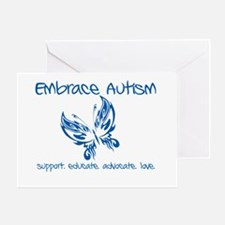 Embrace Autism Butterfly Greeting Card
