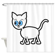 Blue Eyed Cat. Shower Curtain