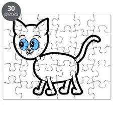 Blue Eyed Cat. Puzzle