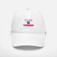 I Love Tigers Baseball Baseball Cap
