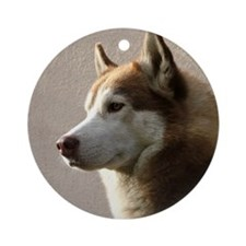 Siberian Husky Dog Keepsake Ornament (Round)