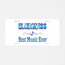 Bluegrass Best Music Aluminum License Plate