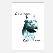 AmStaff Warm Heart Postcards (Package of 8)