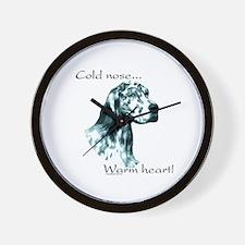 Eng Setter Warm Heart Wall Clock