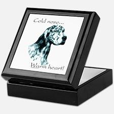 Eng Setter Warm Heart Keepsake Box