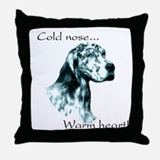 Eng Setter Warm Heart Throw Pillow