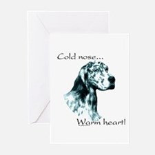 Eng Setter Warm Heart Greeting Cards (Pk of 10