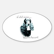 Gordon Setter Warm Heart Oval Decal