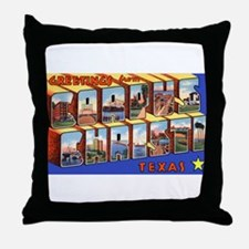 Corpus Christi Texas Greetings Throw Pillow