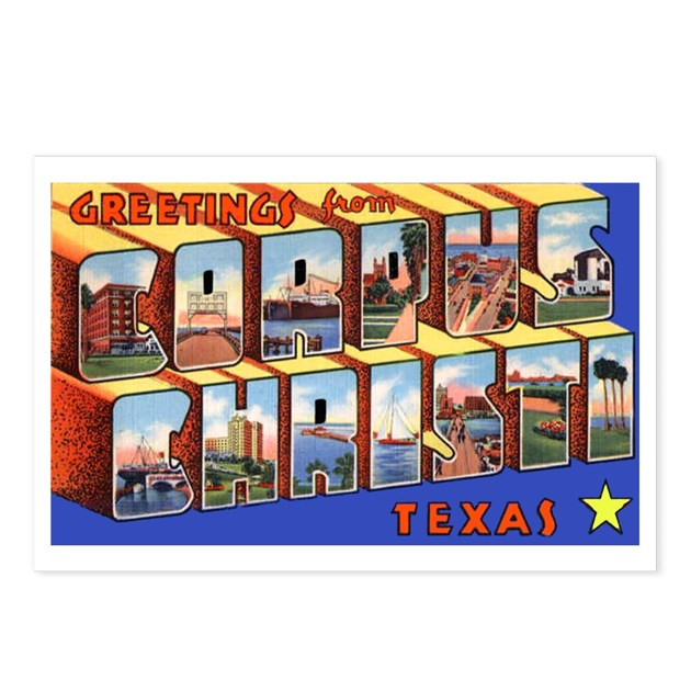 Corpus Christi Texas Greetings Postcards Package By W2arts