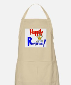 """Happily Retired"" BBQ Apron"