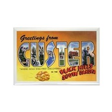Custer South Dakota Greetings Rectangle Magnet