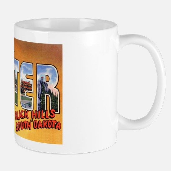 Custer South Dakota Greetings Mug