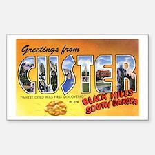 Custer South Dakota Greetings Sticker (Rectangular