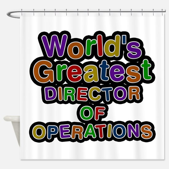 World's Greatest DIRECTOR OF OPERATIONS Shower Cur
