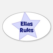Elias Rules Oval Decal