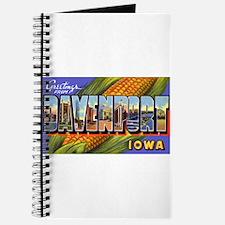 Davenport Iowa Greetings Journal