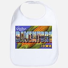 Davenport Iowa Greetings Bib