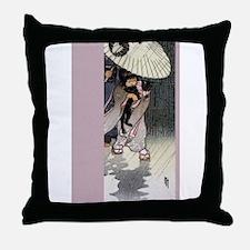 Vintage Japan Throw Pillow