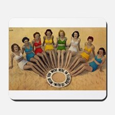 Retro Beach Beauties Mousepad