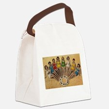 Retro Beach Beauties Canvas Lunch Bag