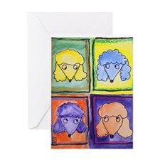 Oodles of Poodles Greeting Card