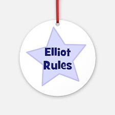 Elliot Rules Ornament (Round)