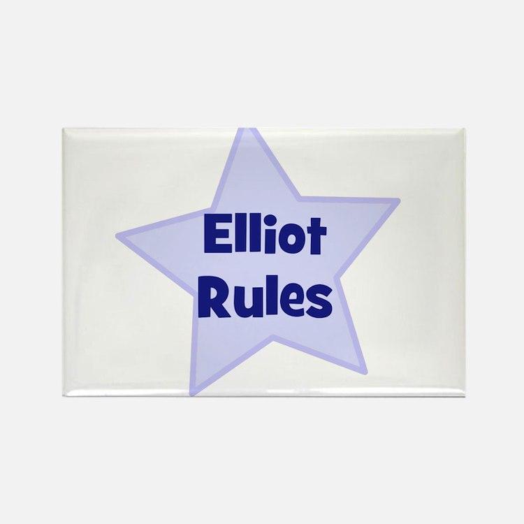 Elliot Rules Rectangle Magnet